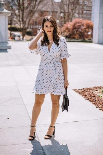 mystylevita blogger jewels dress shoes bag polka dots polka dots dress sandals spring outfits