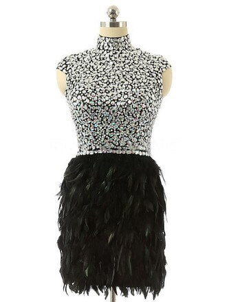 dress feathers fashion elegant sparkle black style prom beautiful dressofgirl