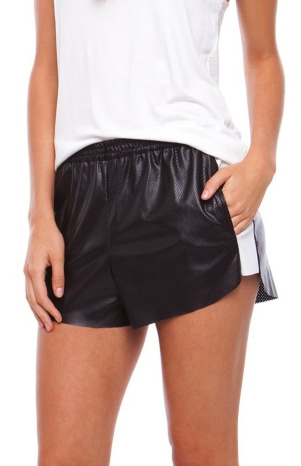 shorts leather shorts black leather shorts