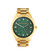 Michael Kors Women's Blake Gold Stainless Steel Green Dial Watch | Emprada