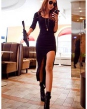 dress,black dress,high-low dresses,black,long sleeve dress,little black dress,prom dress,black maxi dress,shoes,sparkle,long sleeves,short dress,party,cute,sexy,kawaii,fashion,girly,clothes,fall outfits,cute dress,asymmetrical dress