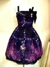 dress,purple dress,emo,scene,edgy,prom dress,dark,galexy