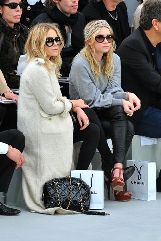 ashley olsen mary kate olsen grey sweater fashion sweater