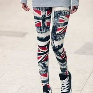 Union jack print leggings