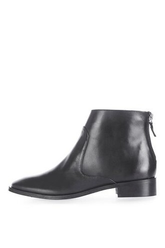 back zip boots black shoes