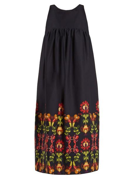 STELLA JEAN dress floral cotton print navy