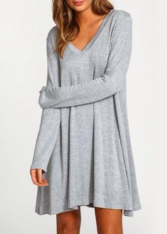 dress grey grey dress sexy day dress fashion instagram pinterest girl girly girly wishlist