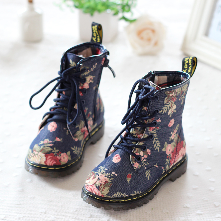 2014 super beautiful rose flower tube Oxford Martin boots Korean version new autumn winter children boots girls kids boots-inBoots from Shoes on Aliexpress.com | Alibaba Group