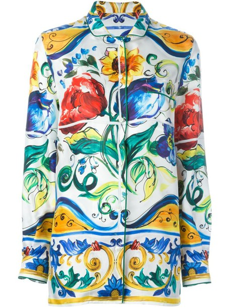 Dolce & Gabbana shirt printed shirt women silk top