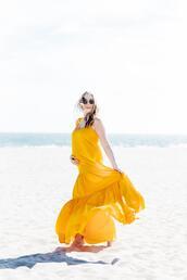 eat sleep wear,blogger,dress,jewels,yellow dress,maxi dress,summer outfits,summer dress