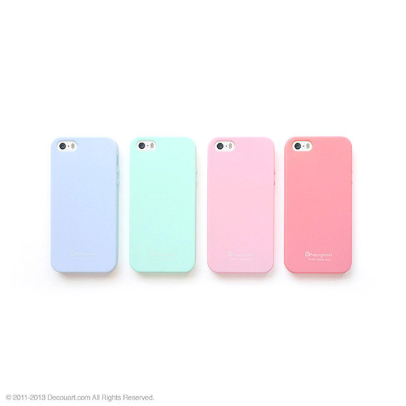 lower price with 81afc d5c23 Soft pastel iPhone 5s case, pastel iPhone 5 case, matt iphone 5s case, baby  pink baby blue pink mint DIY kit