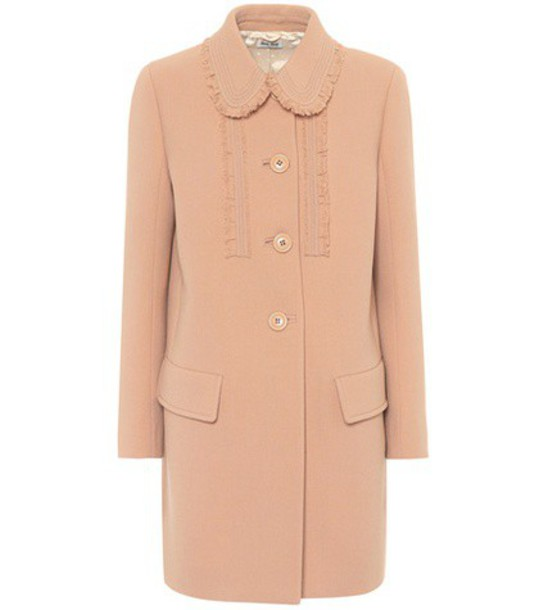 Miu Miu coat wool beige