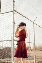 love,lenore,blogger,dress,hat,shoes,jewels,fisherman cap,red dress