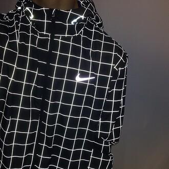 coat nike fluor fluorescent swimsuits fluo blackandwhite noir