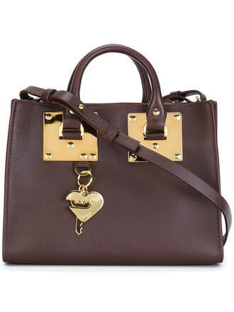 gold purple pink bag