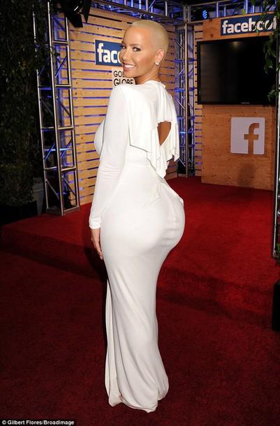 amber rose white dress