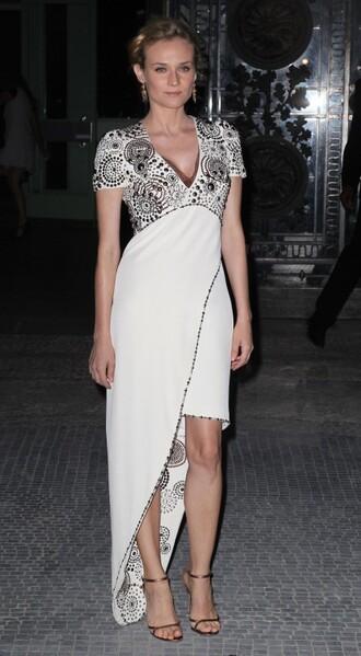 grey dress diane kruger white dress