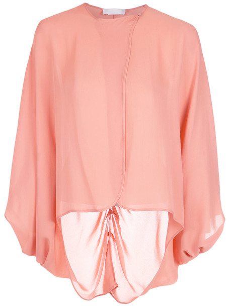 Giuliana Romanno blouse women silk purple pink top