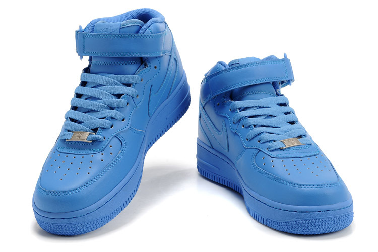 AIR FORCE ONE - BLUE MIDS - $79.00 : CrispyKicks, The Best Source for Nike Air Jordans, Custom Kicks Unreleased 50% Off!