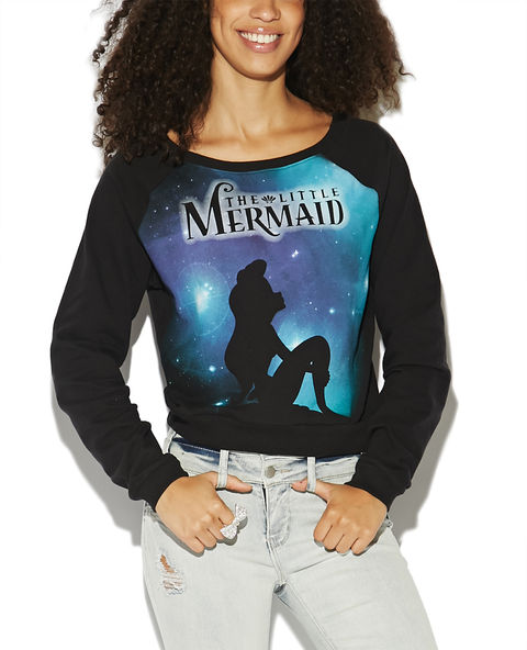 Little Mermaid Crop Sweatshirt