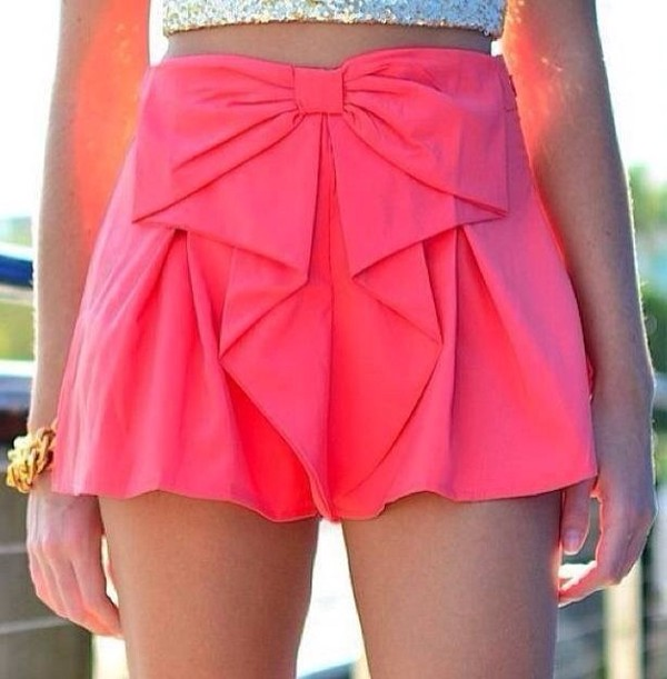 shirt pink skirt bow ruffle