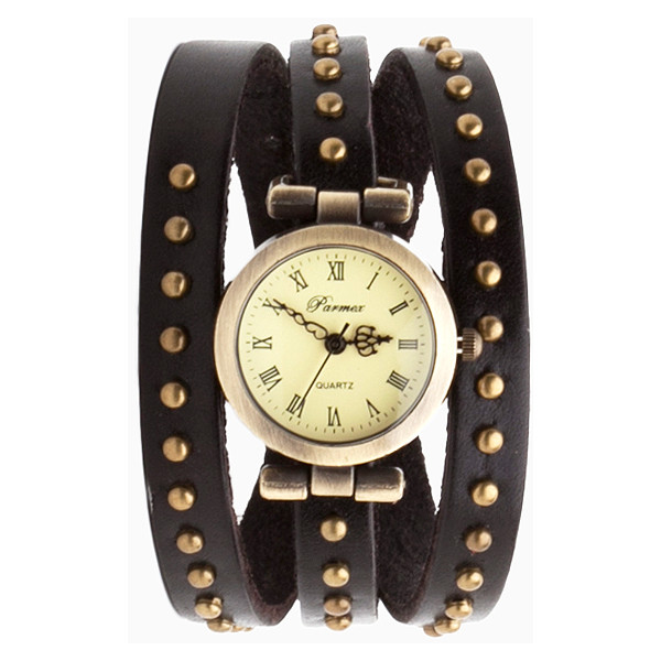 Antiqued Stud Wrap Watch - Polyvore