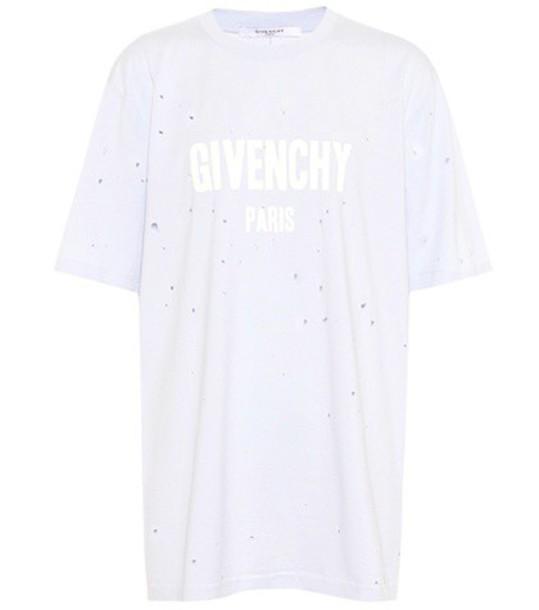 Givenchy t-shirt shirt cotton t-shirt t-shirt cotton blue top