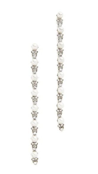 pearl earrings silver jewels