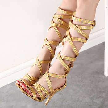 Aliexpress.com : Buy New arrivals 2014 gladiator sandals women knee high comfortable flats heel summer shoes black apricot size 35 40 7501 from Reliable shoes gg suppliers on New Fashion Shoes
