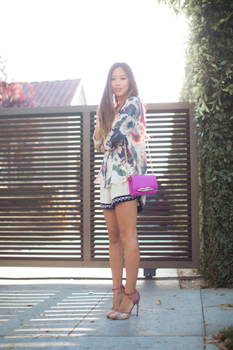 song of style blouse shorts shoes bag jewels