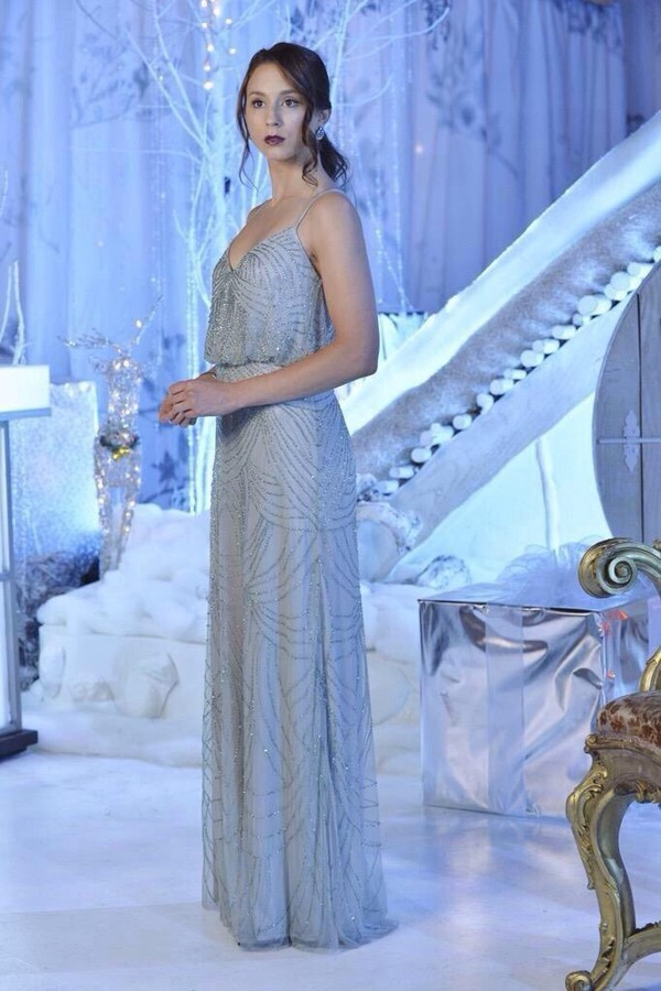 personalidad Simetría Antología  dress, pretty little liars, pll ice ball, embellished, embroidered, prom  dress, light blue, troian bellisario, spencer hastings - Wheretoget
