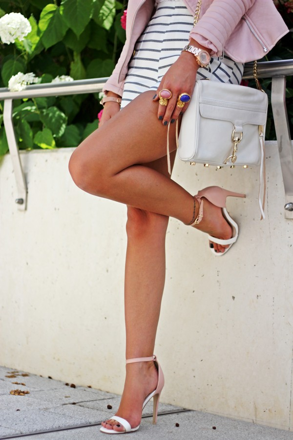 bag blogger classy leather bag fashionhippieloves chain shoes clubwear high heels strappy sandals sandals summer shoes summer outfits pink jewels stripes sexy elegant