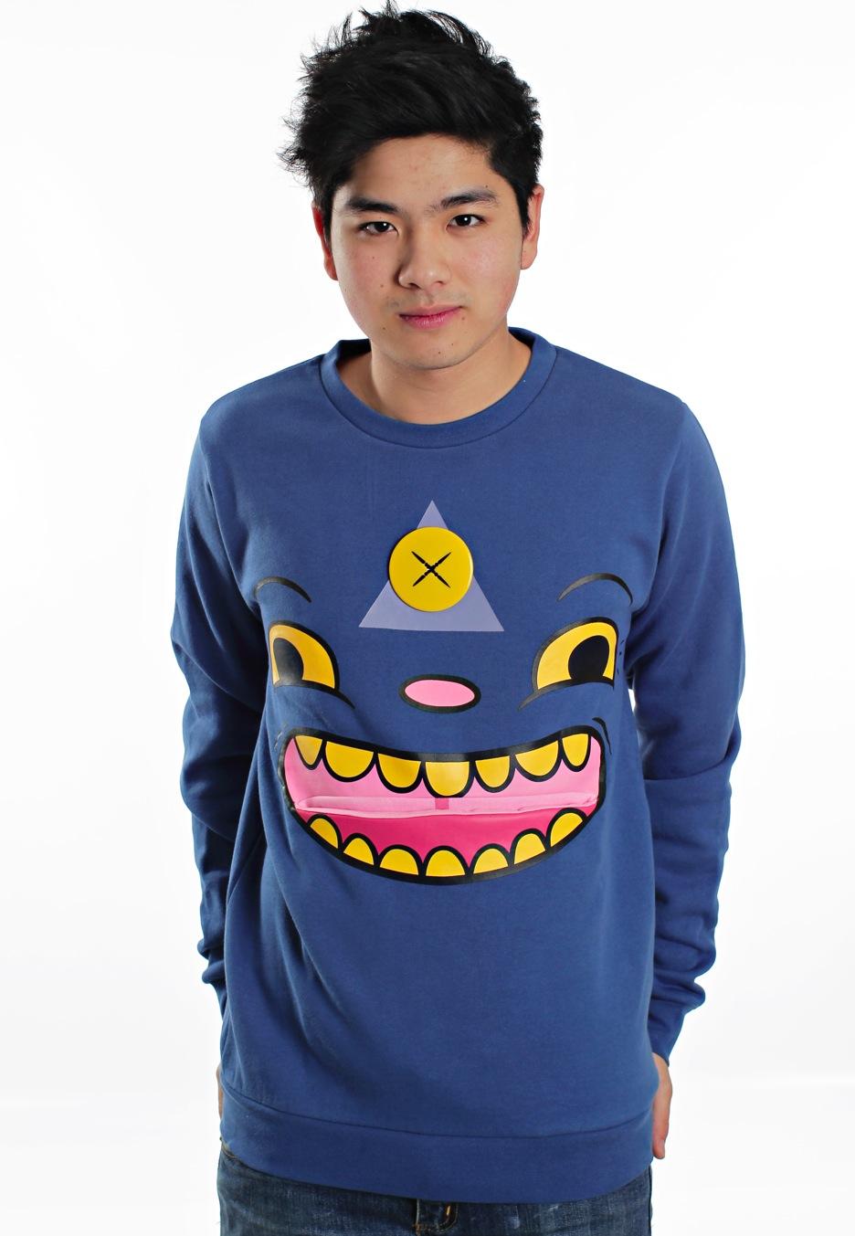 Drop Dead - Tripster Blue - Sweater - Streetwear Online Shop - Impericon.com Worldwide