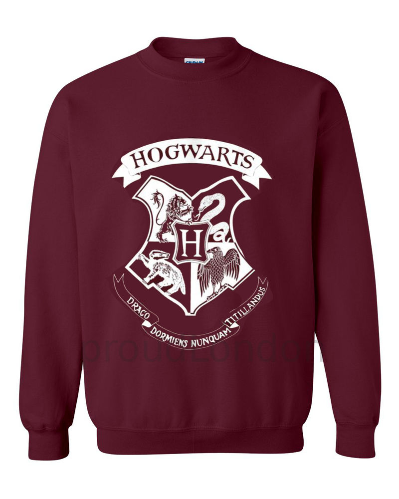 New Hogwarts Printed HarryPotter inspired Sweatshirt Jumper