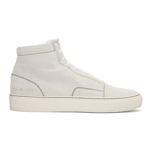 Common Projects White Suede Skate Mid Sneakers