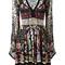 Roberto cavalli - floral print flared dress - women - silk/viscose - 40, silk/viscose