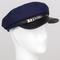Navy newsboy fiddler hat