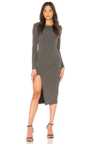 Minkpink dress midi dress midi charcoal