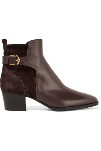 suede ankle boots dark boots ankle boots leather suede brown shoes