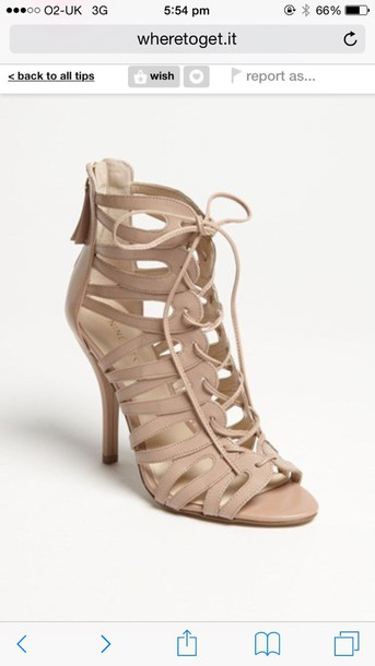 shoes lace up heels nude heels sandals lace up sandals leather sandals