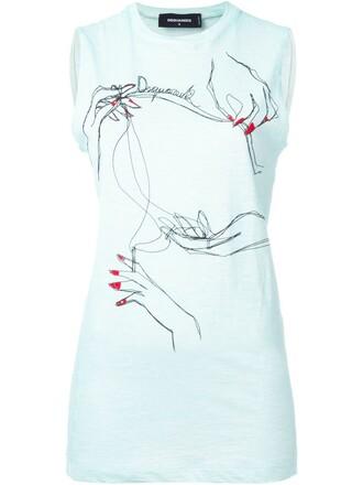 t-shirt shirt sleeveless blue top