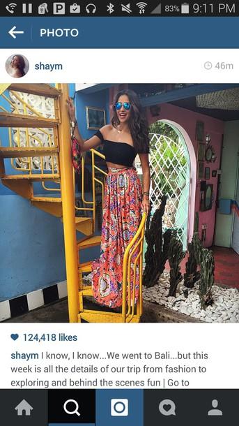 skirt bright @maxiskirt