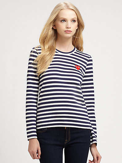 Comme des Garcons Play - Striped Tee - Saks.com