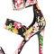 Hothouse black floral print dress sandals