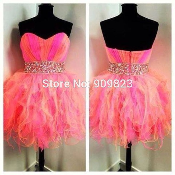 Aliexpress.com : buy beautiful pink orange and purple dress sweetheart neck beaded sash natural above knee mini a line tulle short party dresses 2014 from reliable dress designing in pakistan suppliers on my classic garden
