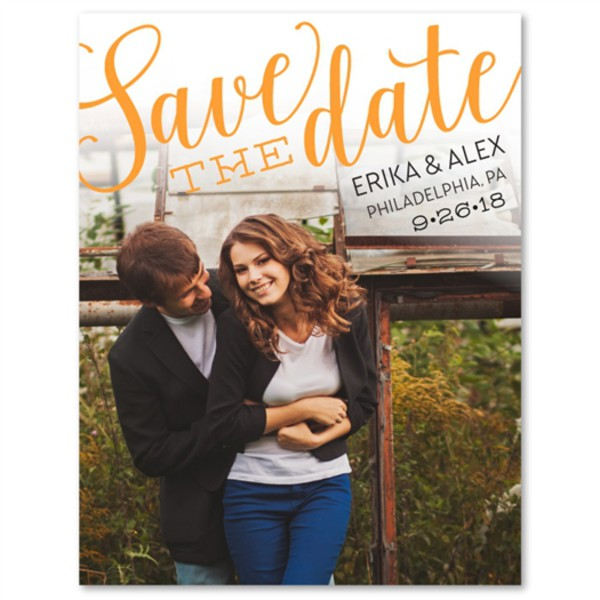 home accessory photo save the date - happy announcement wedding invitations