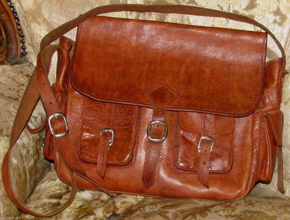 bag brown vintage straps