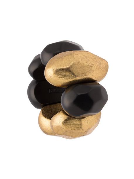 Monies wood women gold black jewels
