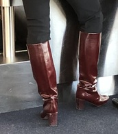 shoes,leather,burgundy