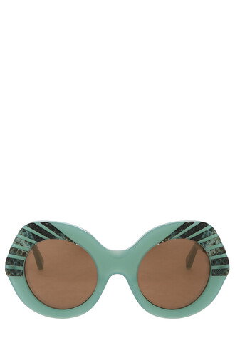 snake sunglasses green